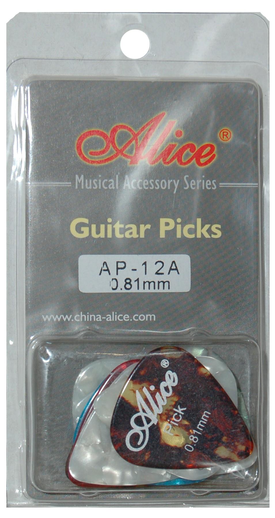 ALICE AP12A GUITAR PICKS - PACK OF 12 (.081)