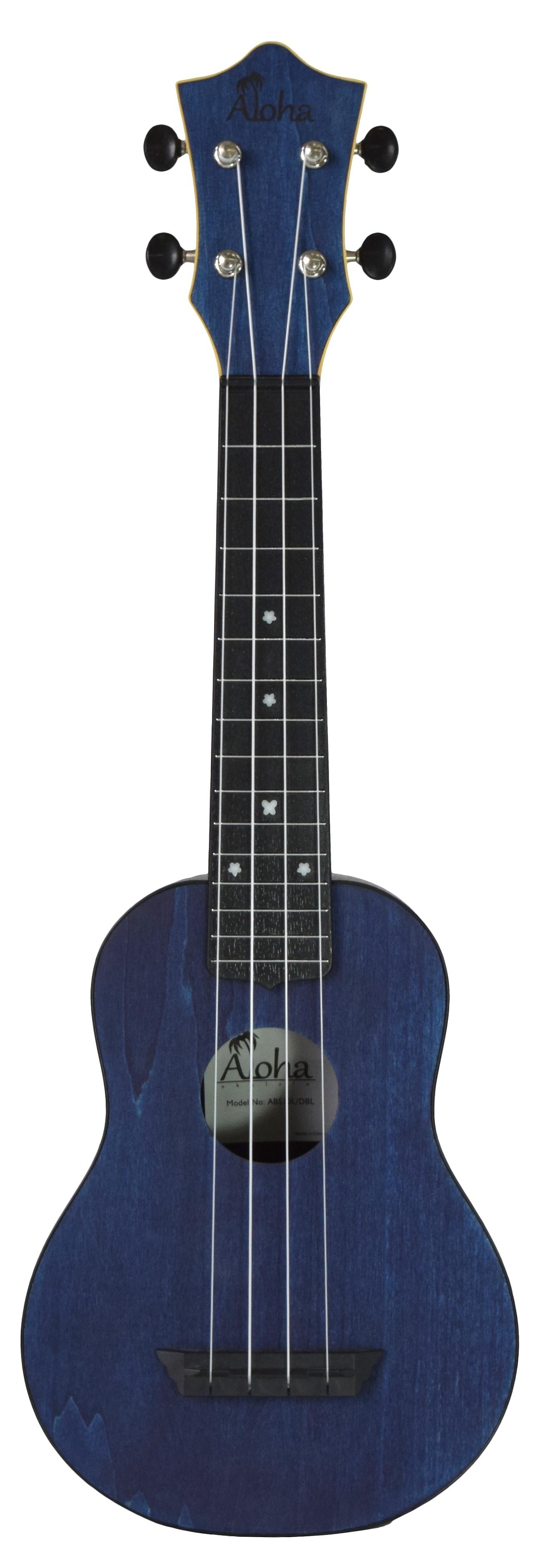 ALOHA ABS10 ROUNDBACK SOPRANO UKULELE - DARK BLUE