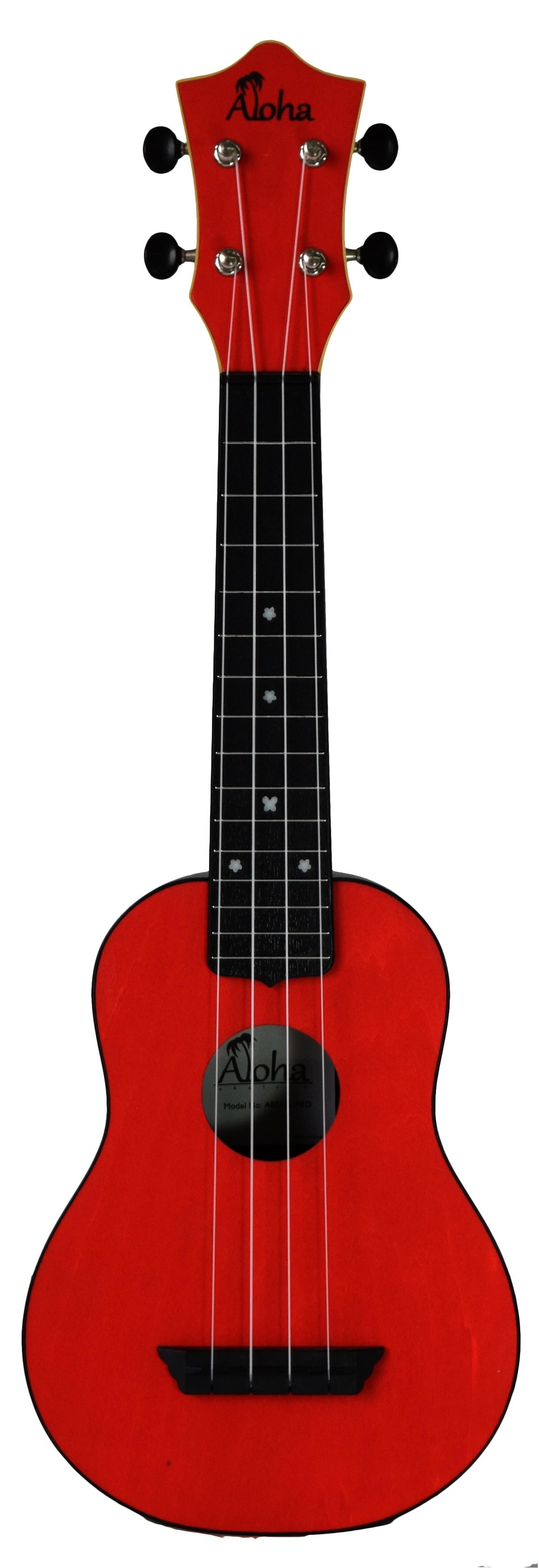 ALOHA ABS10 ROUNDBACK SOPRANO UKULELE - RED