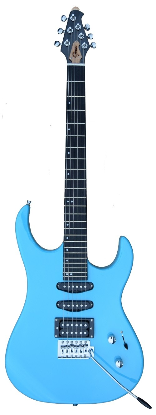 A GUSON by GROOVE Single/Single/Humbucker pickups Electric guitar Daphne-Blue Color
