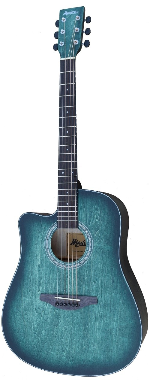 ACOUSTIC MADERA OP411C LEFT HANDED HAND-RUBBED BODY INTO AQUATICA BLUE