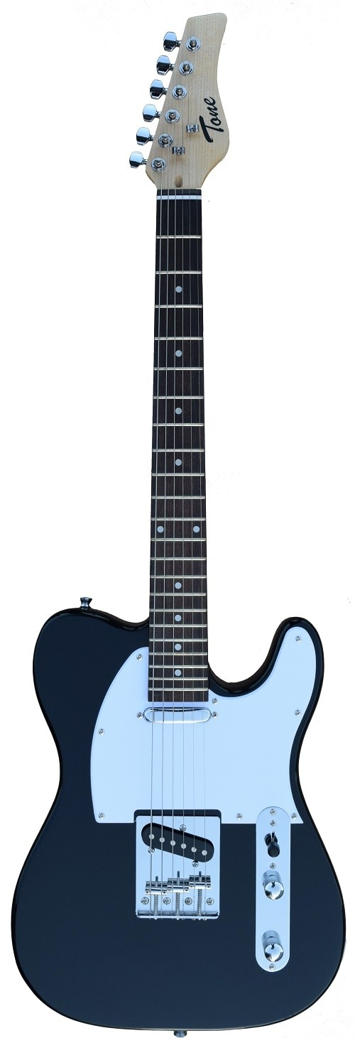 A TONE TELECASTER SHAPED ELECTRIC GUITAR INTO BLACK COLOR
