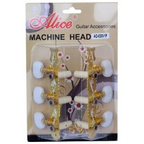 ALICE AOS020V1P MACHINE HEAD SET FOR CLASSICAL GUITAR - SUPERIOR STEEL PLATING - GOLD