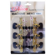 ALICE AOS020V3P MACHINE HEAD SET FOR CLASSICAL GUITAR - SUPERIOR STEEL PLATING - GOLD
