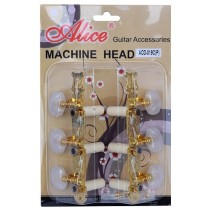 ALICE AFD-019CP GOLD MACHINE HEAD SET FOR CLASSICAL GUITAR - LONG CONFIGURATION