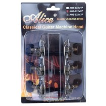 ALICE AOS022V3P MACHINE HEAD SET FOR CLASSICAL GUITAR - ZINC ALLOW PLATED