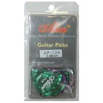 ALICE AP12A GUITAR PICKS - PACK OF 12 (.046)
