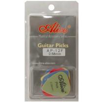 ALICE AP12F GUITAR PICKS - PACK OF 12 (0.58)
