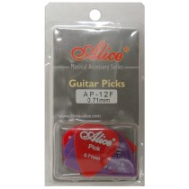 ALICE AP12F GUITAR PICKS - PACK OF 12 (0.71)