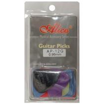 ALICE AP12G GUITAR PICKS - PACK OF 12 (.096)