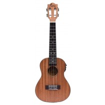 ALOHA SM2400E LEFT HANDED SOLID TOP CONCERT UKULELE WITH ACTIVE EQ + TUNER
