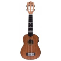 ALOHA SM2400E LEFT HANDED SOLID TOP SOPRANO UKULELE WITH ACTIVE EQ + TUNER