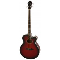 ARIA FEB-30M SPRUCE TOP ACOUSTIC 4-STRING BASS WITH EQ IN RED SHADE
