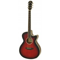 ARIA FET-01STD ELECTRO ACOUSTIC GUITAR IN RED SHADE