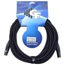 GF TWEED (ALL BLACK) MICROPHONE XLR x XLR CABLE - 25 FEET