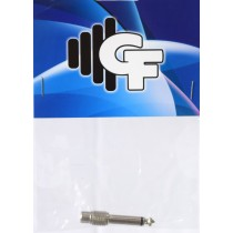 GRF CONNECTOR TRANSFORMER - RCA FEMALE X 1/4 MALE MONO - CHROME