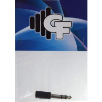 GRF CONNECTOR TRANSFORMER - 1/8 FEMALE STEREO X 1/4 MALE STEREO