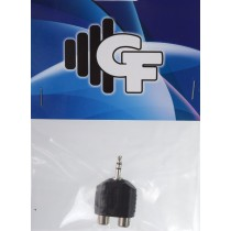 GRF COUPLER TRANSFORMER - RCA FEMALE (2X) X 1/8 MALE STEREO