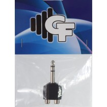 GRF COUPLER TRANSFORMER - RCA FEMALE (2X) X 1/4 MALE STEREO