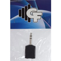 GRF COUPLER TRANSFORMER - 1/4 FEMALE (2X) X 1/4 MALE STEREO