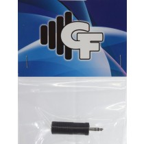 GRF CONNECTOR TRANSFORMER - 1/4 FEMALE STEREO X 1/8 MALE STEREO