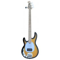 An Left Handed Active MusicMan Shaped Bass Guitar 4 Strings into TONE-BURST Color