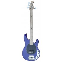 An Active MusicMan Shaped Bass Guitar 4 Strings into Funky-Mauve Color