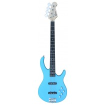 Bass Guitar 4 Strings with Jazz Pickups into Daphne Blue Color