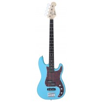 A PJ Bass Guitar 4 Strings (Jazz & Precision pickups) into Light-Blue Color
