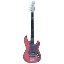 A PJ Bass Guitar 4 Strings (Jazz & Precision pickups) into Red-Light Color