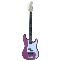 A PJ Bass Guitar 4 Strings (Jazz & Precision pickups) into Purple Color