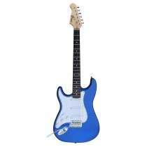 A Left Handed GROOVE Stratocaster Shaped Electric guitar into BLUE color