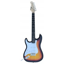 A Left Handed GROOVE Stratocaster Shaped Electric guitar into BURST color