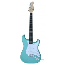 A GROOVE Stratocaster Shaped Electric guitar into Turcoise SGreen color