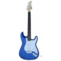A GROOVE Stratocaster Shaped Electric guitar into Metallic Blue Color