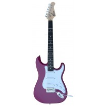 A GROOVE Stratocaster Shaped Electric guitar into Purple Color
