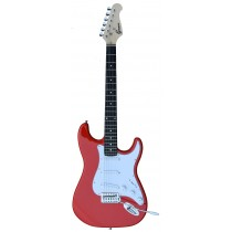 A GROOVE Stratocaster Shaped Electric guitar into RED color