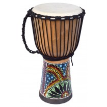 ECKO 50CM PAINTED DJEMBE - NATURAL BLOND