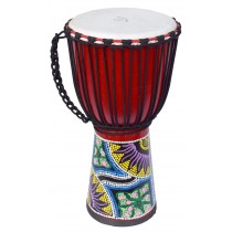 ECKO 50CM PAINTED DJEMBE - RED