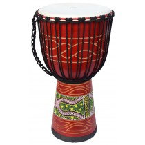 ECKO 60CM CARVED DJEMBE - CANDY RED
