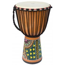 ECKO 60CM PAINTED DJEMBE - NATURAL BLOND