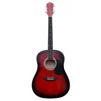 KAPOK LD41 FULL SIZE DREADNOUGHT ACOUSTIC GUITAR - RED