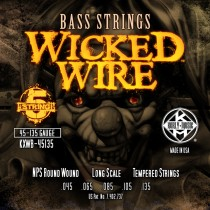Kerly 5 String Bass Strings - Wicked Wire Series - 45-135