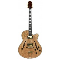 LEMARQUIS F4000 HOLLOW BODY GUITAR - NATURAL