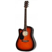 MADERA SRUCE TOP WITH PICKUP SP411 -SUNBURST (LEFT HANDED)
