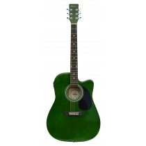 MADERA SP411CE - ELECTRO-ACOUSTIC 41'' GUITAR - GREEN