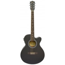 MADERA MA2000CE ACOUSTIC FOLK GUITAR WITH PICKUP - BLACK OPEN PORE