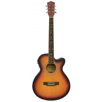 MADERA MA2000CE ACOUSTIC FOLK GUITAR WITH PICKUP - MATTE BURST