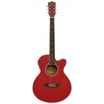MADERA MA2000CE ACOUSTIC FOLK GUITAR WITH PICKUP - RED OPEN PORE