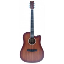 MADERA MAMAH41CEQ/BST FULL SIZE ACOUSTIC CUTAWAY WITH PICKUP - BST MATTE